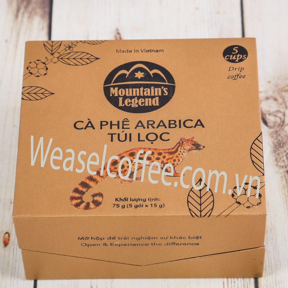 Cà phê chồn, cà phê chồn túi lọc Arabica, Ca phe chon tui loc Arabica, café chon tui loc, café chồn Arabica túi lọc, cà phê túi lọc chồn, ca phe tui loc chon