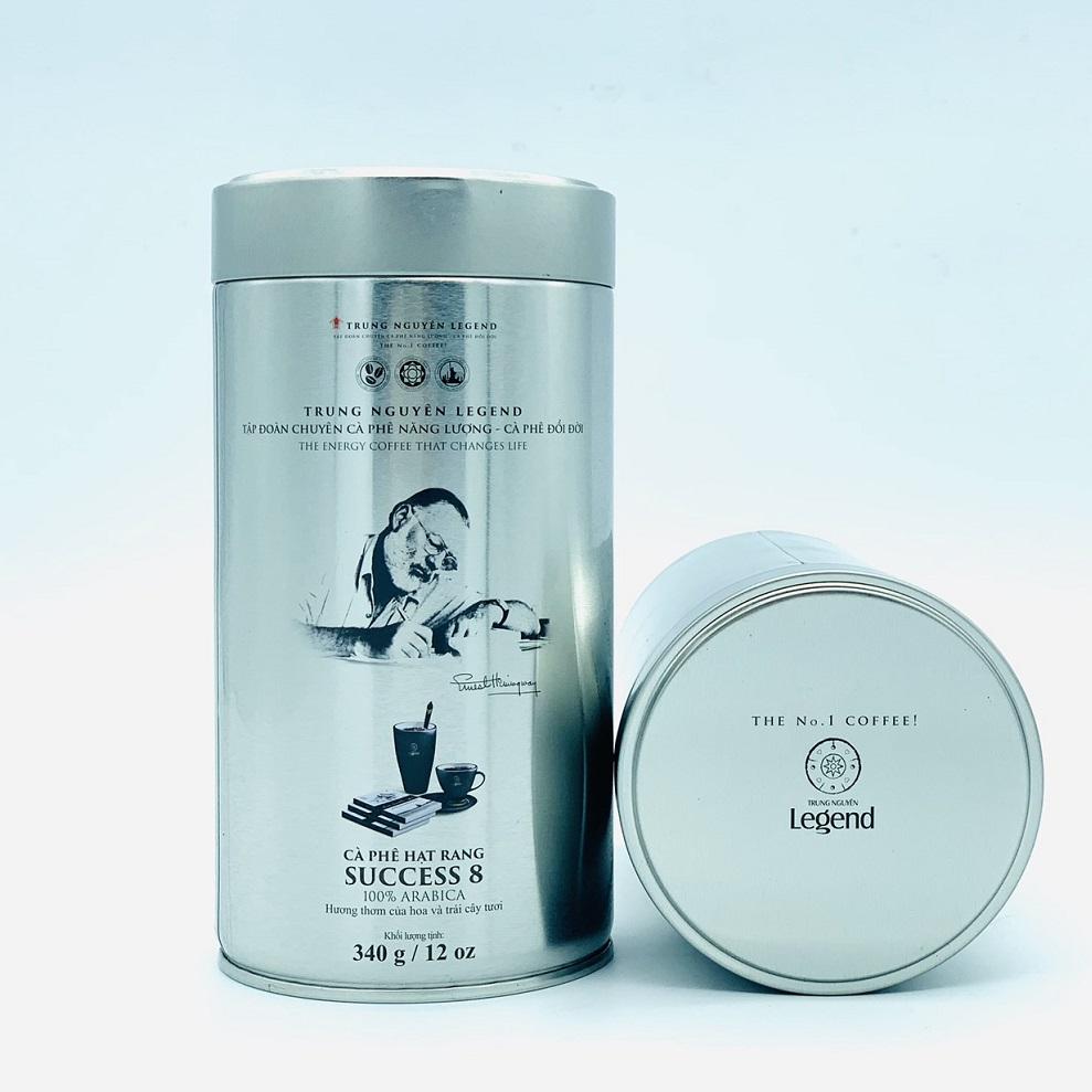 Cà phê hạt Trung Nguyên Success 8 (340gram/Lon)