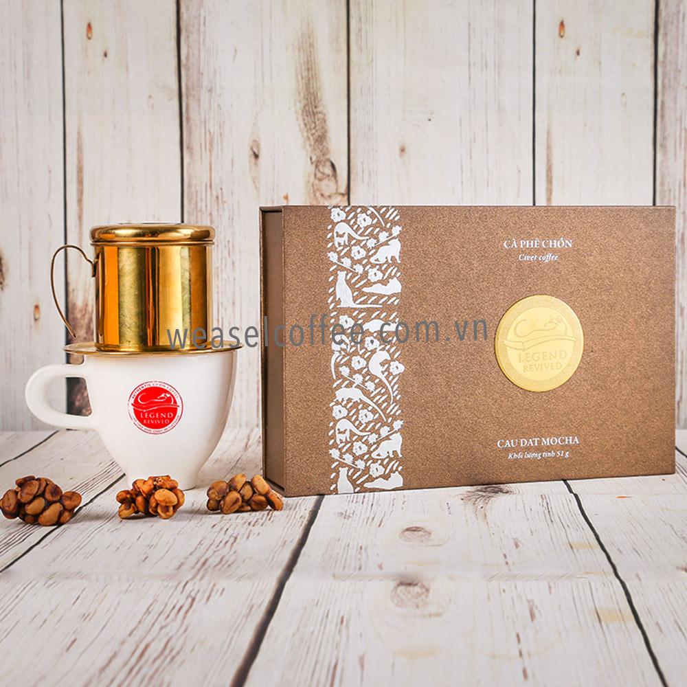 Cà phê Chồn Mocha hộp giấy 51gam