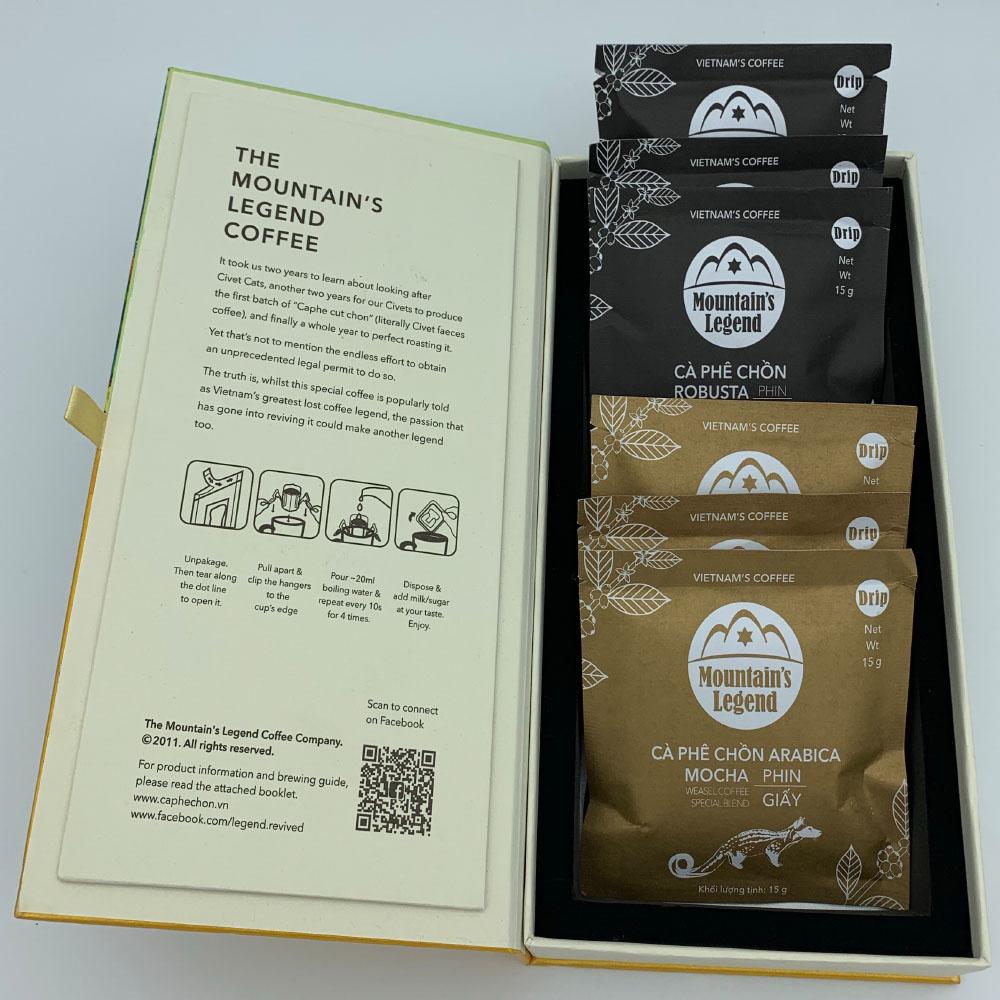 Hộp Cà phê Chồn túi Lọc 6 Gói